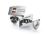 Tonino Lamborghini Stainless Steel Cufflinks with Red and White Crystal Stones Style #TCL005000