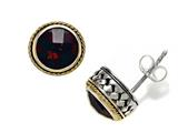 Silver and 18kt Yellow Gold Genuine Garnet Earrings by Effy Collection® Style #520133