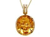 Genuine Citrine Pendant by Effy Collection® Style #520178