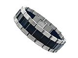Stainless Steel and Rubber Mens Bracelet Style #77518