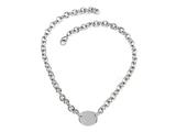 "Sterling Silver 16"" Oval Charm Necklace Style #50DB901"