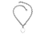 "Sterling Silver 16"" Heart Charm Necklace Style #50DB902"