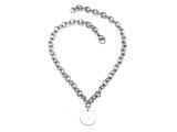 "Sterling Silver 16"" Round Charm Necklace Style #50DB903"