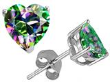 Tommaso Design™ Heart Shape 7mm Mystic Rainbow Topaz Earring Studs Style #25808