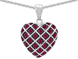 Original Star K™ Created Ruby Puffed Heart Pendant Style #303273