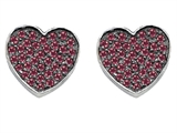 Original Star K™ Heart Shape Love Earrings with Created Ruby Style #304161