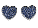 Original Star K™ Heart Shape Love Earrings with Created Sapphire Style #304162
