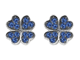 Celtic Love by Kelly Small Lucky Clover Earrings with Created Sapphire Style #304185