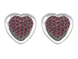 Original Star K™ Heart Shape Love Earrings with Created Ruby Style #304202