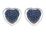Original Star K™ Heart Shape Love Earrings with Created Sapphire Style #304203