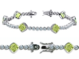 Original Star K™ High End Tennis Bracelet With 6pcs 7mm Cushion Cut Genuine Peri Style #304737