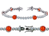 Original Star K™ High End Tennis Bracelet With 6pcs 6mm Round Simulated Mexican Style #304748