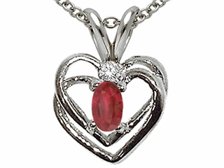 Ruby Heart Shaped Pendants