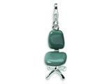 Amore LaVita™ Sterling Silver 3-D Enameled Office Chair w/Lobster Clasp Charm fo Style #QCC144