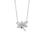 Sterling Silver 18 Inch Dragonfly Necklace With Evil Eye Style #460058