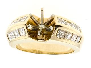 Princess Diamonds Engagement Ring