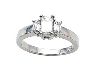 Emerald Cut Diamonds Engagement Ring
