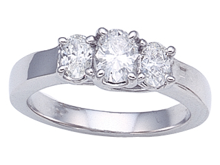 Oval Diamonds Engagement Ring