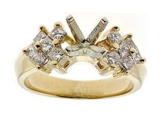 Princess Diamonds Engagement Ring