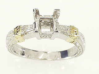Antique Carving Engagement Ring