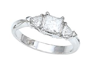 Trillion Diamonds Engagement Ring