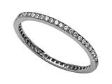 Zoe R™ 925 Sterling Silver Micro Pave Hand Set Cubic Zirconia (CZ) Stackable Eternity Band Style #BM10132