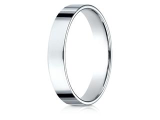 Benchmark 14k Gold 4.0mm Traditional Flat Wedding Band / Ring
