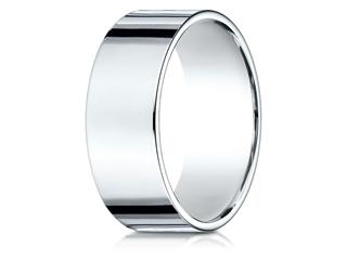 Benchmark 14k Gold 8mm Traditional Flat Wedding Band / Ring