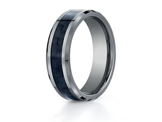 Benchmark 7mm Tungsten Forge Wedding Ring with Carbon Fiber Center