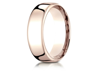 Benchmark 14k Rose Gold 7.5mm European Comfort-fit Wedding Band / Ring