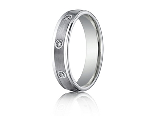 Benchmark 4mm Comfort Fit Diamond Wedding Band / Ring