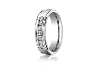 Benchmark 6mm Comfort Fit Diamond Wedding Band / Ring