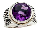 Balissima By Effy Collection Sterling Silver and 18k Yellow Gold Amethyst Ring Style #520341