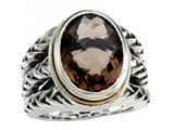Balissima By Effy Collection Sterling Silver and 18k Yellow Gold Smoky Quartz Ring Style #520348