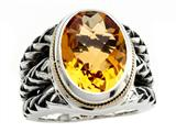 Balissima By Effy Collection Sterling Silver and 18k Yellow Gold Citrine Ring Style #520349