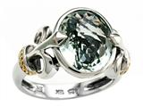 Balissima By Effy Collection Sterling Silver and 18k Yellow Gold Green Amethyst Ring Style #520361
