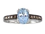 Effy Collection 14k White Gold Aquamarine Ring Style #520393