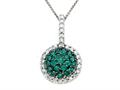Genuine Emerald and Diamond Pendant by Effy Collection(r)