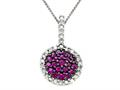 Genuine Ruby and Diamond Pendant by Effy Collection(r)