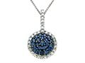 Genuine Sapphire and Diamond Pendant by Effy Collection(r)