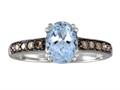 Effy Collection 14k White Gold Aquamarine Ring