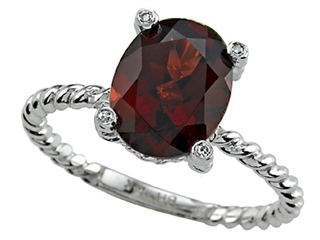 Genuine Garnet Ring by Effy Collection
