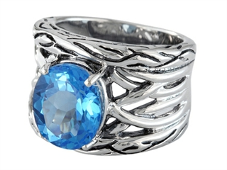 Balissima By Effy Collection Sterling Silver Blue Topaz Ring