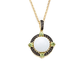 Carlo Viani White Abalone Pendant Necklace