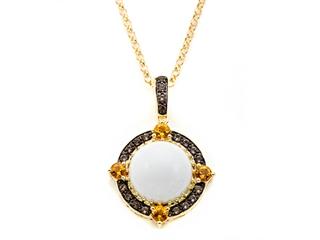 Carlo Viani White Abalone Pendant Necklace