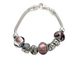 Zable™ Sterling Silver Bridal Theme Bracelet with 7 Beads Style #BZB404