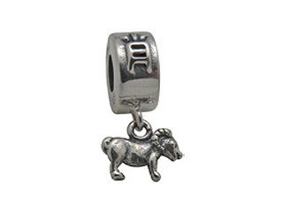 Zable Sterling Silver Chinese Zodiac-Sheep Bead / Charm