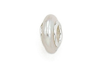 Zable Sterling Silver Freshwater White Cultured Pearl - Bead / Charm