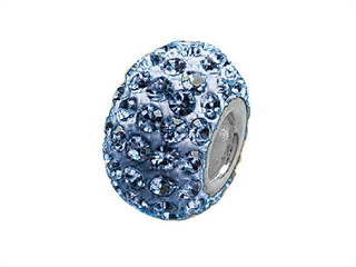 Zable Pave Swarovski Crystal Bead March Bead / Charm
