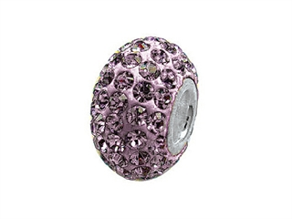 Zable Pave Swarovski Crystal Bead June Bead / Charm